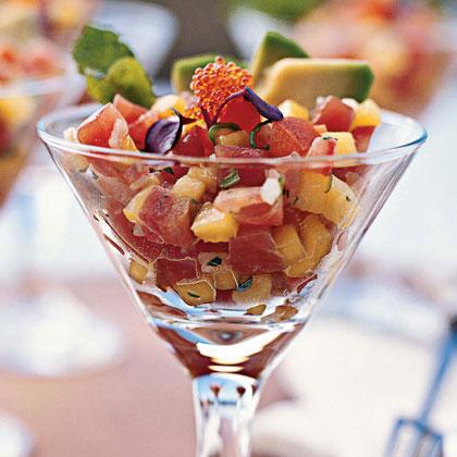 Ahi Tuna Seviche with Mango and Avocado