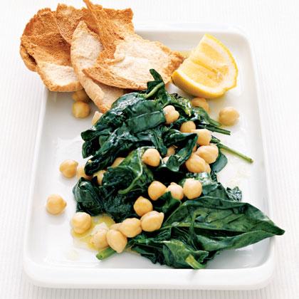 Lemon-Spinach Chickpeas