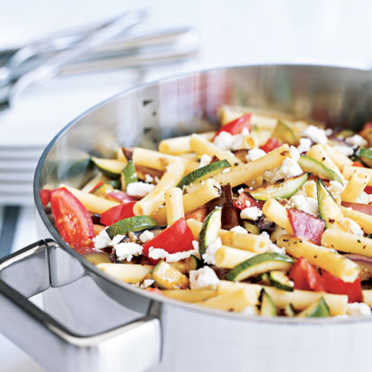 Roasted-Vegetable and Feta Ziti