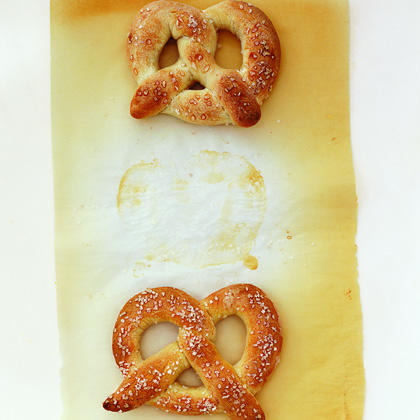 Hot Pretzels RecipeDid you know you can make circus pretzels with only three ingredients? The ingredient list is so kindergarten, but the hot pretzels they make are rare!  Thirty minutes and a little finger dexterity are all you need to enjoy these warm snacks. Pair with mustard or even pizza sauce for dipping.