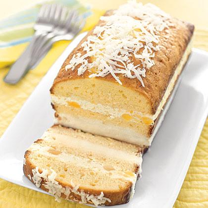 Piña Colada Ice Cream Cake