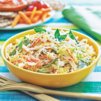 Crunchy Buttermilk Coleslaw (91¢) RecipeAs the burgers and dogs come off the grill, break out this cool and crunchy side. One batch can go a long way, so if you're lucky, you might get to bring home leftovers in the cooler.