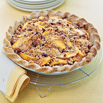 Blue Ribbon Peach Praline PieRecipe