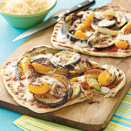 Individual Grilled Veggie Pizzas