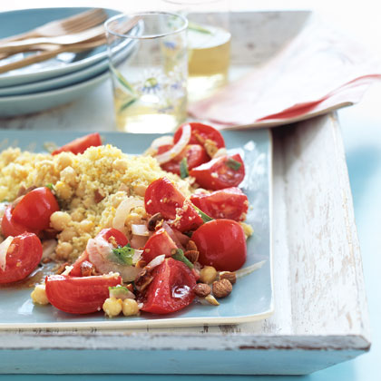 Minty Chickpea Salad with Couscous