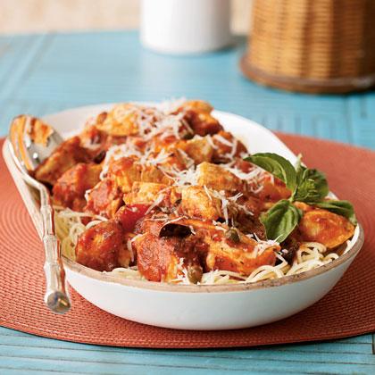 Chicken Puttanesca With Angel Hair Pasta Recipe Myrecipes