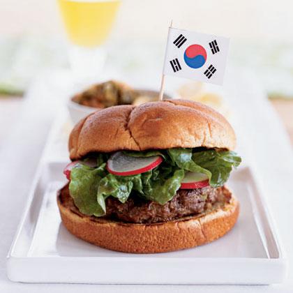 Korean Barbecue Burgers Recipe