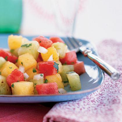 Picante Three-Melon Salad