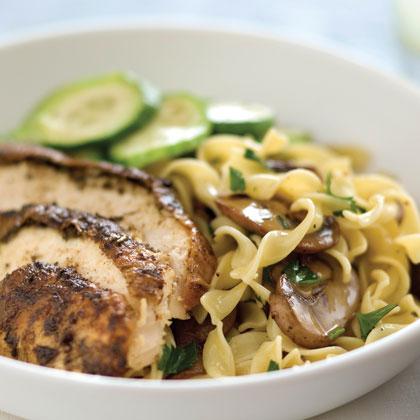 Mushroom-and-Fresh Parsley Noodles Recipe