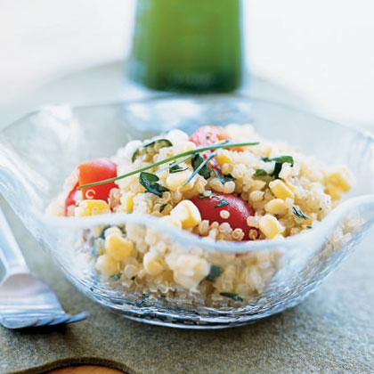 Quinoa, Corn, and Tomato Salad with Chive-Infused Oil Recipe