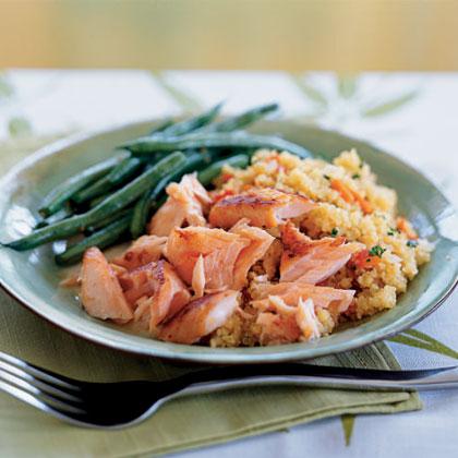 Quick-Cured Sake Salmon with Quinoa