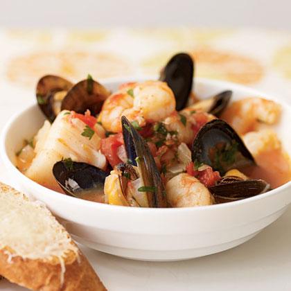 <p>Cioppino-Style Seafood Stew</p>