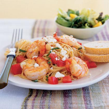 Garden Shrimp Pasta Recipe