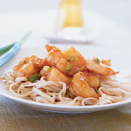 Stir-Fried Shrimp with Spicy Orange Sauce