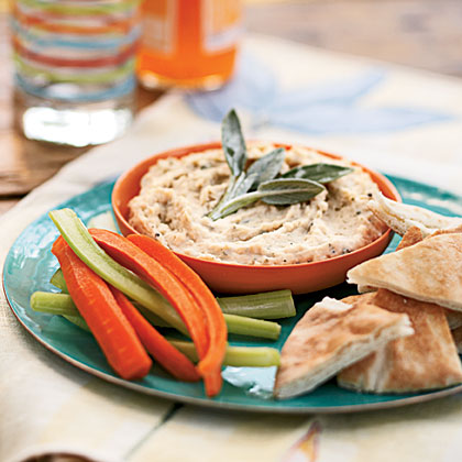 White Bean Dip with Rosemary and Sage
