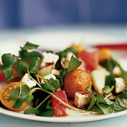 <p>Summer Melon Salad with Feta and Mint</p>
