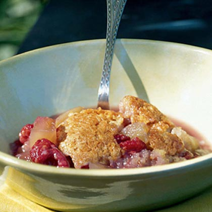Green-Tomato-and-Raspberry Cobbler