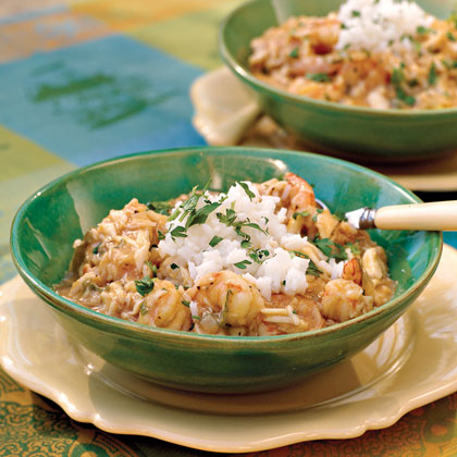 Crab-and-Shrimp Étouffée
