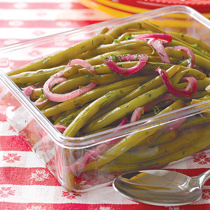 how to serve pickled green beans