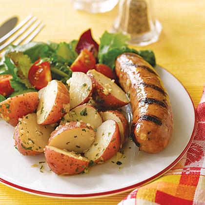 Sausages with Warm Potato Salad