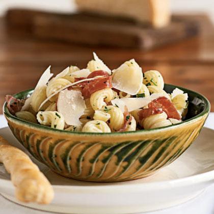 Cavatappi with Prosciutto and Parmesan