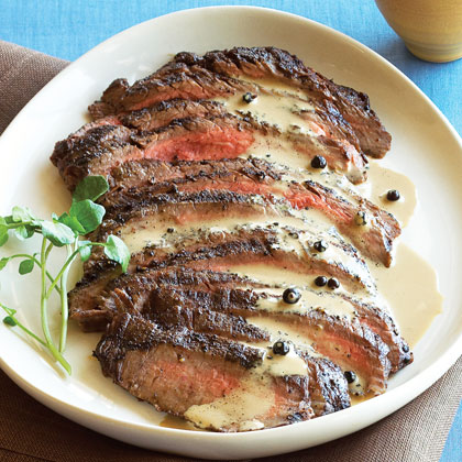 Gin and Spice Flank Steak