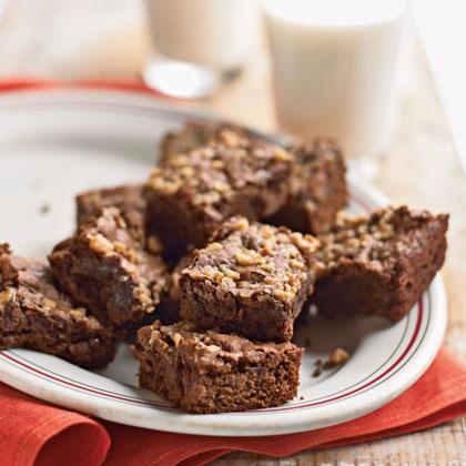 Fudgy Mocha-Toffee Brownies