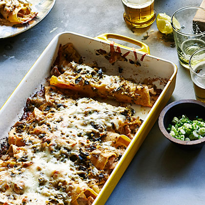 Green Chile Chicken Enchiladas RecipeLike all good New Mexico food, these Green Chile Chicken Enchiladas are simple, earthy, and delicious. Its heat depends on the chiles; go with Anaheims if you scorch easily.