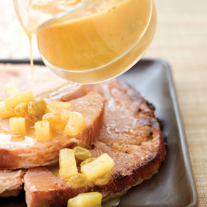 Ham Steak With Orange Glaze
