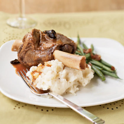 Braised Lamb Shanks with Orange and Olives