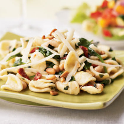 Pasta with White Beans, Greens, and Lemon Recipe
