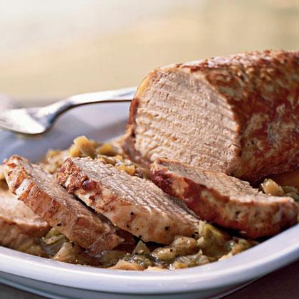 Lombo di Maiale Coi Porri (Pan-Roasted Pork Loin with Leeks) Recipe