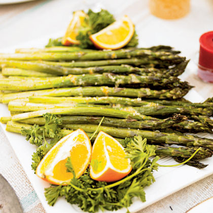 asparagus with grilled lemon roasted asparagus lemon grilled asparagus ...
