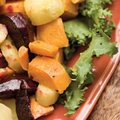 Roasted Root Vegetables With Horseradish Vinaigrette