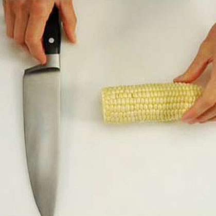 Cutting Corn of the Cob