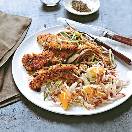 Sesame Chicken With Asian Slaw