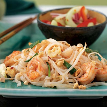 Shrimp Pad Thai RecipeMake a surprisingly simple restaurant favorite at home. Save time by purchasing peeled and deveined shrimp, and head to the Asian foods section of your supermarket to find bottled fish sauce. Get Holley's Recipe Tips