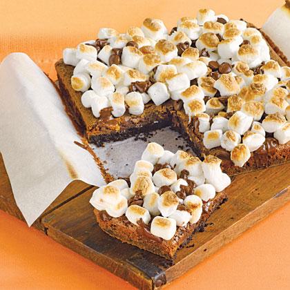 Fudgy Marshmallow BarsRecipe