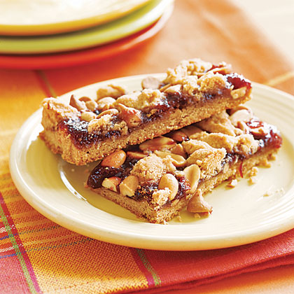 Peanut Butter and Jelly BarsRecipe