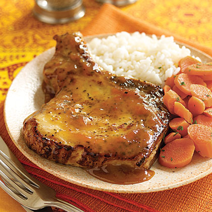 Pork Chops with Apricot Sauce Recipe | MyRecipes