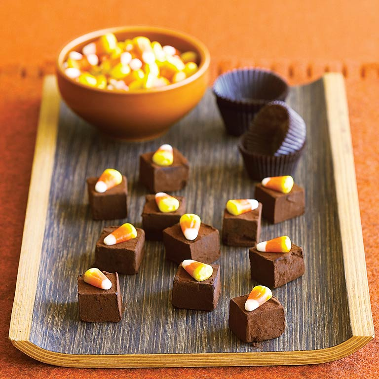 Chocolate Candy Corn Truffles