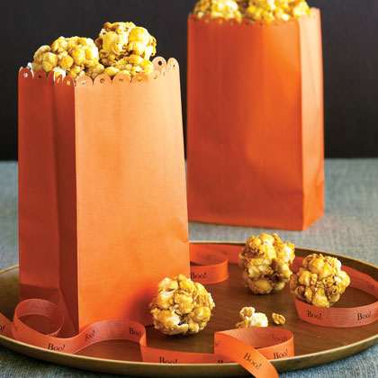"""Laura kept popping corn and Ma made it into balls until the large dishpan was heaped with their sweet crispness."" (These Happy Golden Years, Laura Ingalls Wilder) These bite-size popcorn balls are just the right size for ""Half-Pint"", Mary, and little sister Carrie.Recipe: Popcorn Balls"