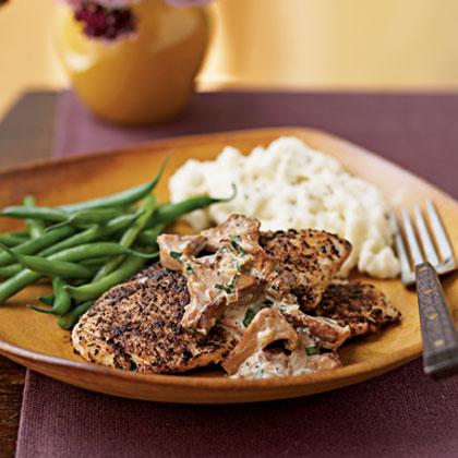 Porcini-Dusted Chicken Scaloppine Recipe