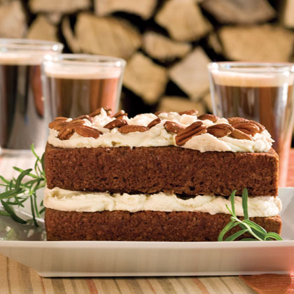 Gingerbread Cake With Stout Buttercream RecipeSpice up this Irish-inspired dessert with the strong, yet subtle, flavor of stout beer, a tasty complement to the gingerbread mix. The recipe calls for about two bottles of beer, with most of it going into the cake and the rest reserved for the icing.