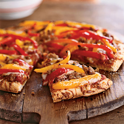 Sausage and Pepper PizzaRecipe