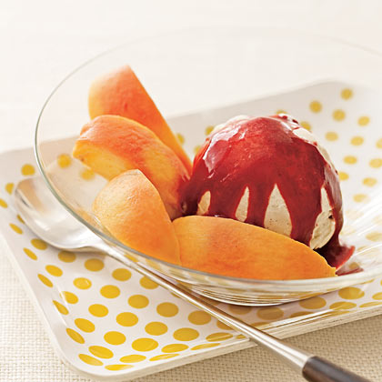 Strawberry-Studded Mango Sorbet Recipe