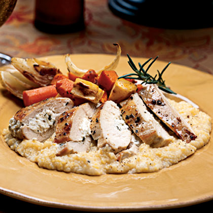 Chicken Breasts Stuffed Garlic Herbed Goat Cheese