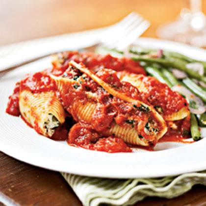 Good food recipes » Pasta shells recipes ricotta