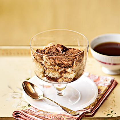 Tiramisu                            RecipeTiramisu is a great dessert to serve at dinner parties. Your guests will love the light and creamy taste of this 5-star dish, as well as the espresso drizzle on top.