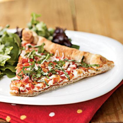 Tomato-Mozzarella Pizza Recipe